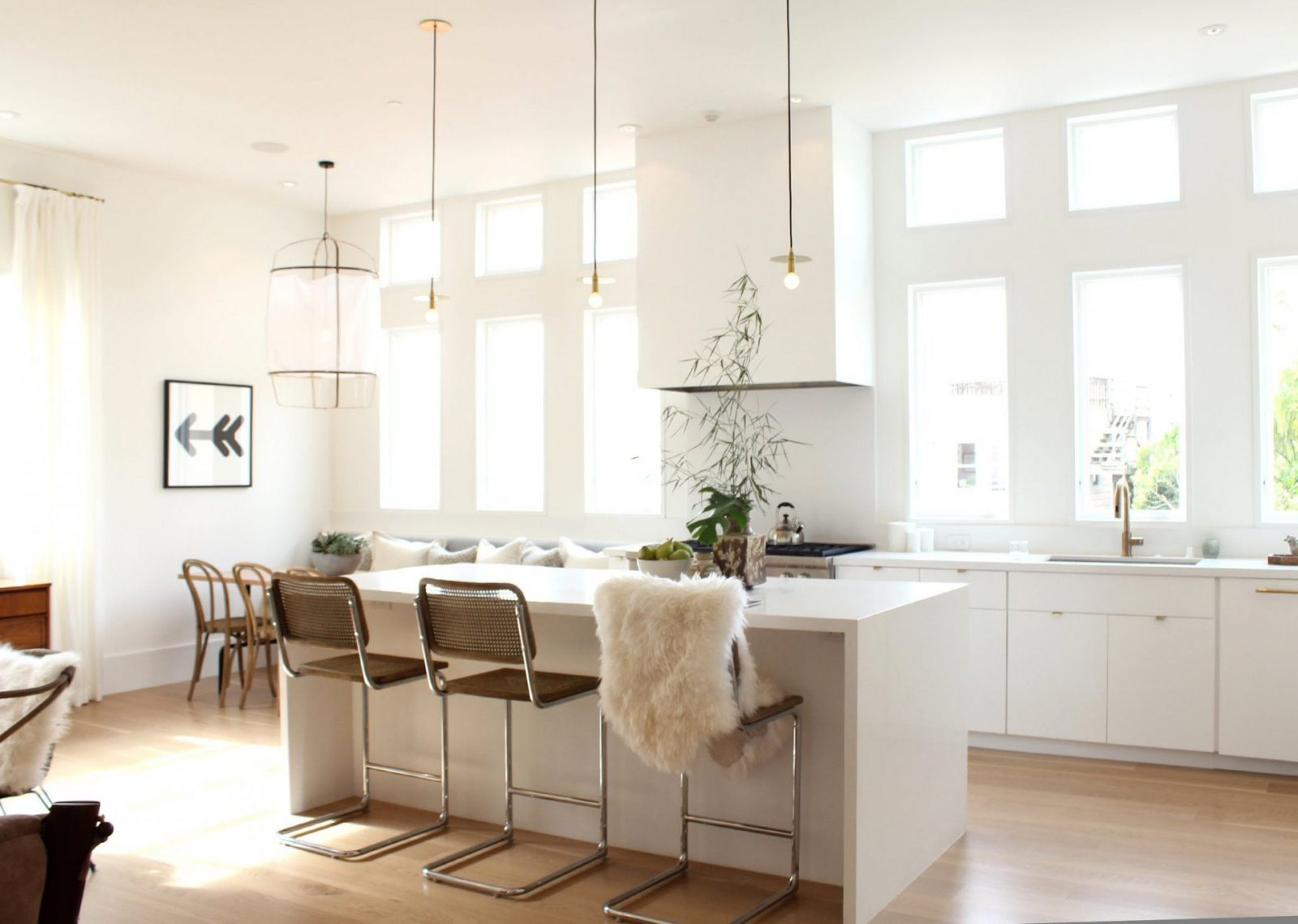 white designed dining room
