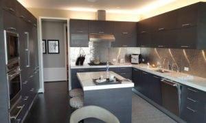 white kitchen isle
